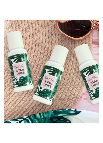 Palm Leaf Sunscreen - Palm leaf sunscreens make a practical favor for