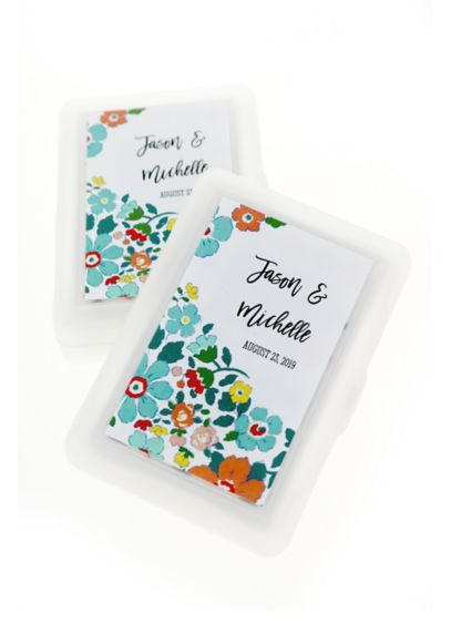 Personalized Exclusive Floral Playing Cards - Wedding Gifts & Decorations