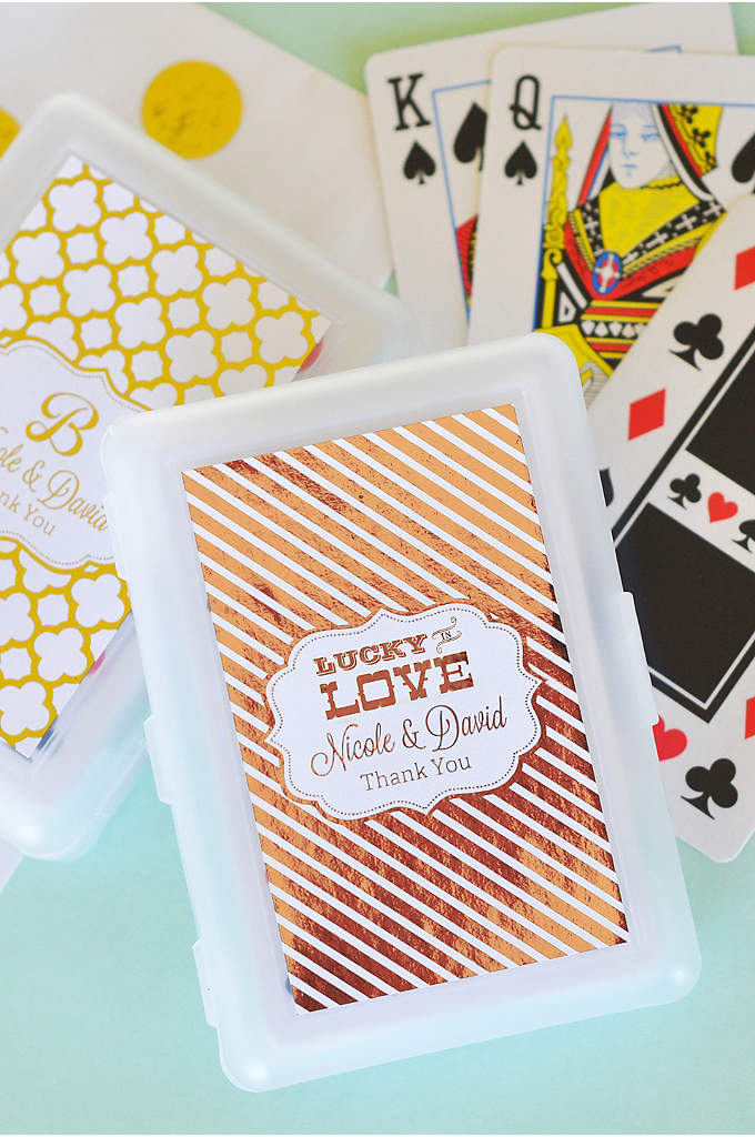 Personalized Metallic Foil Playing Cards - Play your cards right by giving your guests