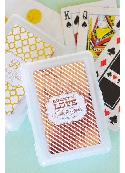 Personalized Metallic Foil Playing Cards - Wedding Gifts & Decorations
