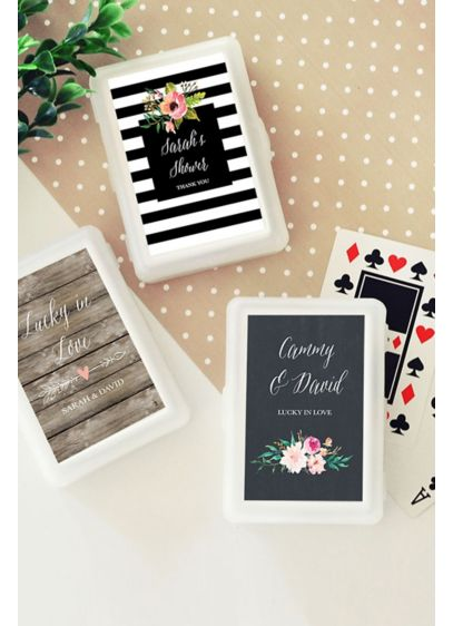 Personalized Floral Garden Playing Cards Davids Bridal