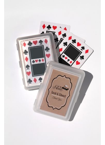 Personalized Vintage Wedding Playing Cards - Your wedding guests will be thrilled to take