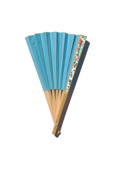 Personalized Exclusive Floral Colored Paper Fans - Wedding Gifts & Decorations