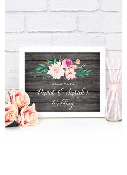 Personalized Floral Garden Wedding Sign - Wedding Gifts & Decorations