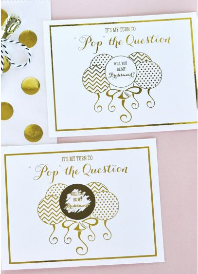 Yellow (Pop The Question Bridesmaid Cards Set of 8)