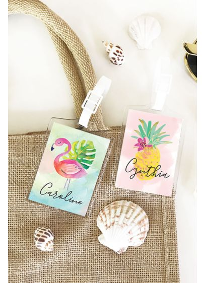 (Personalized Tropical Beach Luggage Tags)