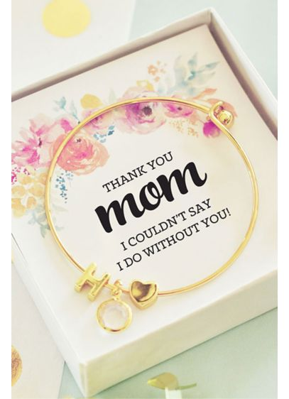 Personalized Gold Monogram Floral Mom Bracelet - Wedding Gifts & Decorations