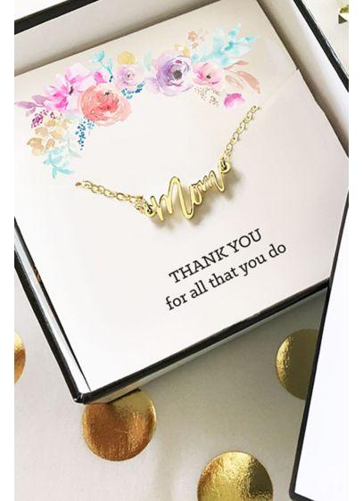 Gold Mom Necklace - Each Gold Mom Necklace comes with a signature