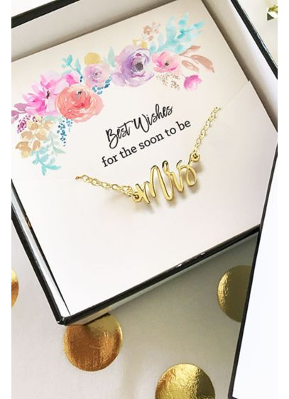 Gold Mrs Necklace - Wedding Gifts & Decorations