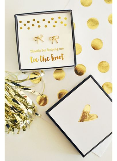 Gold Tie the Knot Earrings - Gold Tie the Knot Earrings are a chic