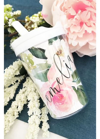 Floral Sippy Cup - A floral sippy cup for the flower girl,