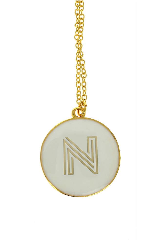 Personalized Gold Monongram Necklace - The Personalized Gold Monongram Necklace makes a stylish