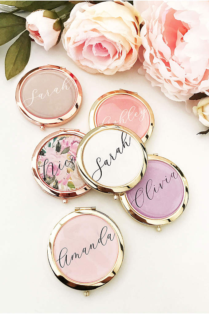 Personalized Compact Mirror - Personalized color compacts make a unique and stylish