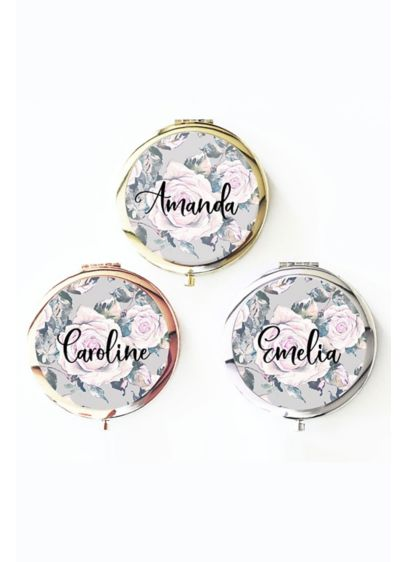 Personalized Rose Garden Compacts - Each Personalized Rose Garden Compact features a gorgeous