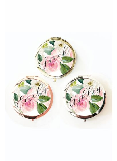Personalized Spring Floral Compact - Wedding Gifts & Decorations