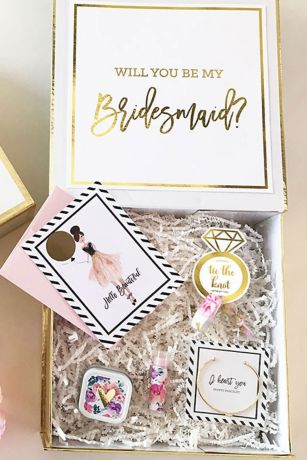 Personalized Bridal Party Gift Box - Wedding Gifts u0026 Decorations  sc 1 st  Davidu0027s Bridal : personalized wedding gift - princetonregatta.org