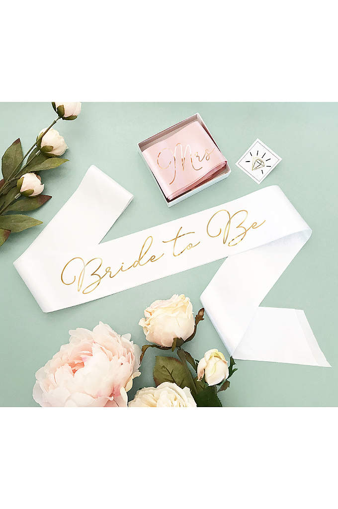 Bride to Be Sash - Custom sashes make the perfect gift for bachelorettes,