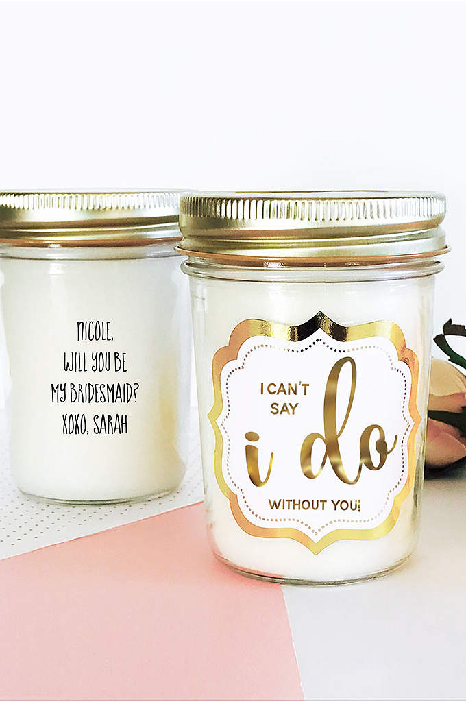 Personalized Wedding Mason Jar Candle - The Personalized Wedding Mason Jar Candles are a