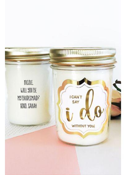 Personalized Wedding Mason Jar Candle David S Bridal