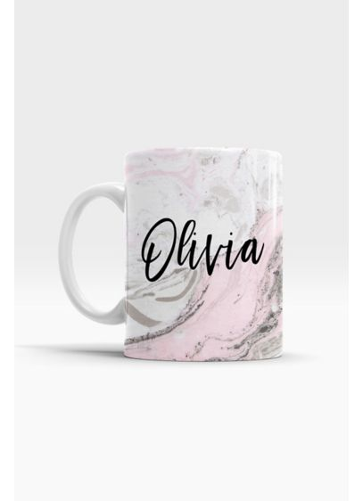 Personalized Pink Marble Coffee Mug - Wedding Gifts & Decorations