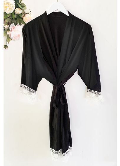 Bride Cotton Robe With Lace Trim - Wedding Gifts & Decorations