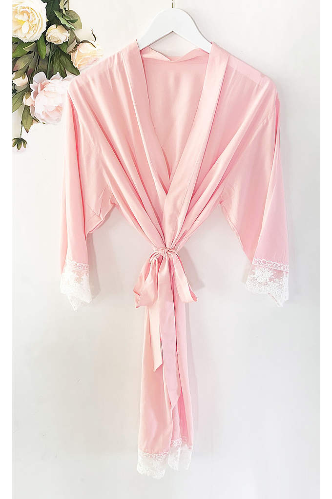 Mother of the Groom Cotton Robe With Lace - The Mother of the Groom will absolutely adore