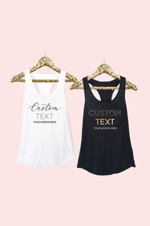 Personalized Fitted Tank Tops - Custom text tank tops make a fun and