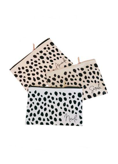Personalized Cheetah Print Canvas Makeup Bag - Cotton 6