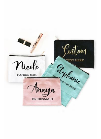 Personalized Canvas Cosmetic Bags - Wedding Gifts & Decorations