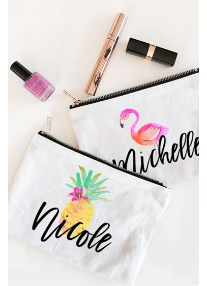 (Personalized Tropical Beach Canvas Cosmetic Bags)