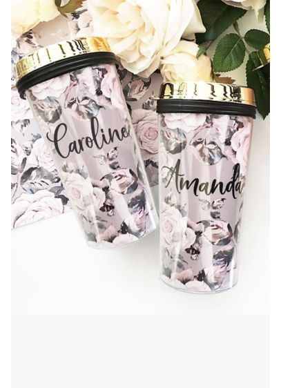 Personalized Rose Garden Travel Tumbler - Rose garden travel coffee tumblers are a perfect