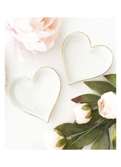 Blank Heart Shaped Ring Dish - Heart shaped dishes make stylish and practical gifts