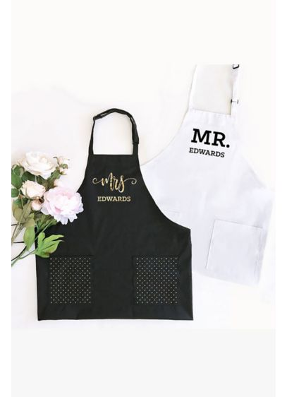 Personalized Mr or Mrs Apron - Wedding Gifts & Decorations