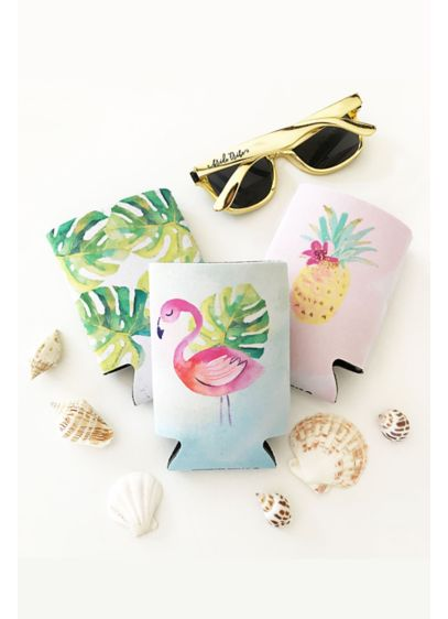Tropical Can Coolers - Wedding Gifts & Decorations
