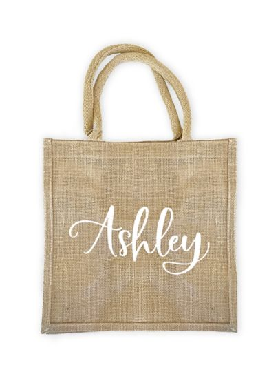 Personalized Burlap Tote Bag - Wedding Gifts & Decorations