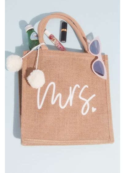 Mrs Pompom Burlap Tote Bag - This pompom-detailed, embroidered burlap tote carries all of