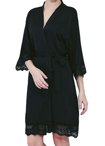 Blank Satin Lace Robes - These delicate robes make a wonderful gift that