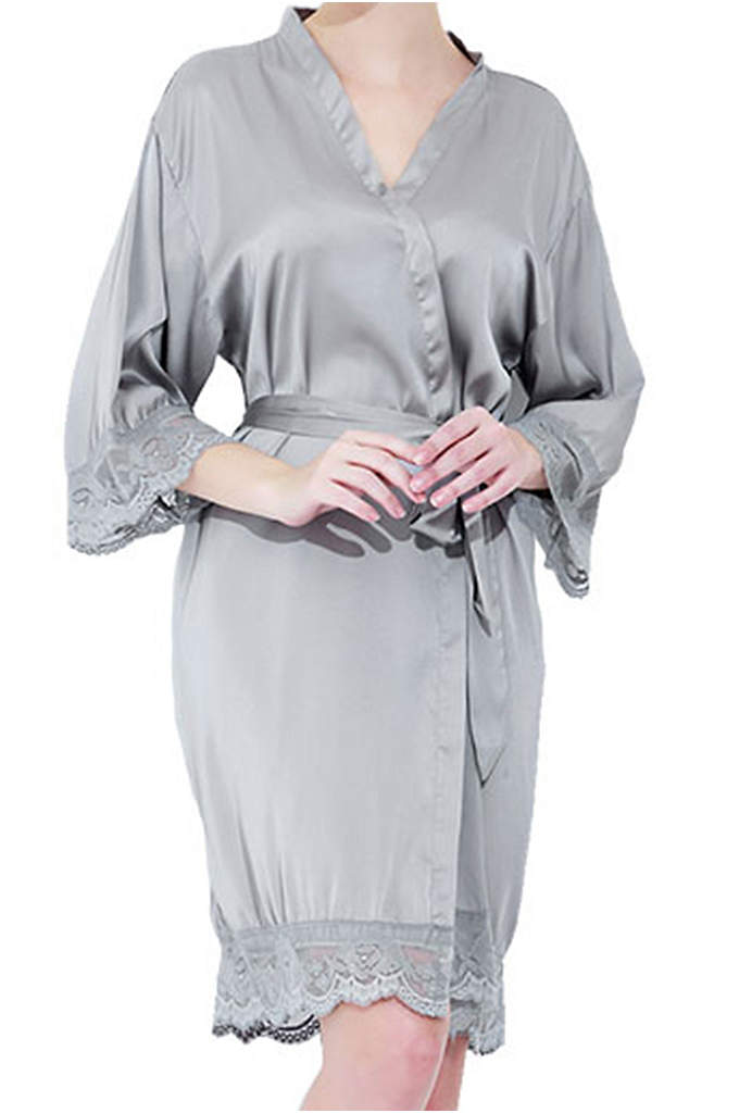 Monogram Satin Lace Robes - These delicate robes make a wonderful gift that
