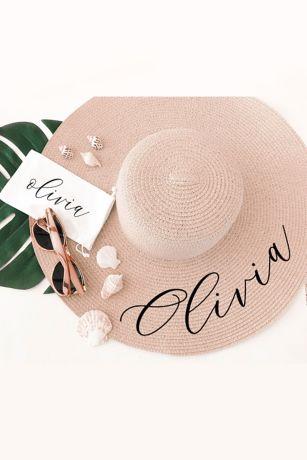 b5513f83 Personalized Sun Hat | David's Bridal