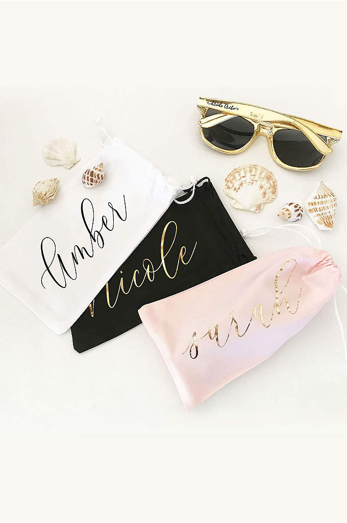 Personalized Sunglasses Pouch - Personalized sunglasses pouches make a great gift for