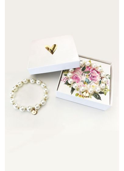 Personalized Monogram Pearl Bracelet with Gift Box - Monogram pearl bracelets make the perfect gift for
