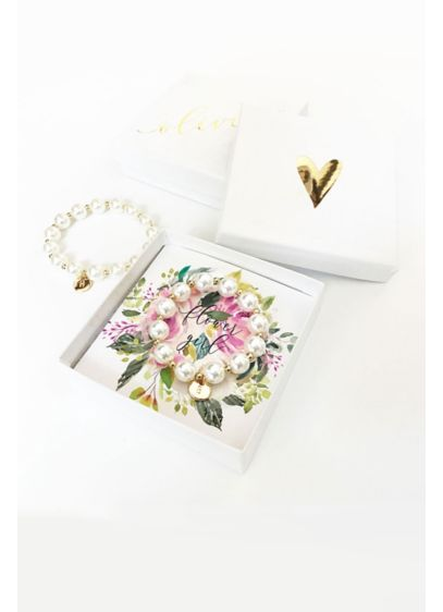 (Pers Flower Girl Pearl Bracelet with Gift Box)