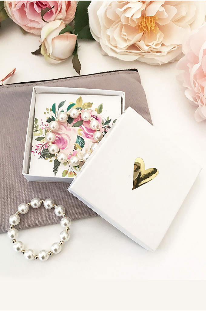 Flower Girl Pearl Bracelet with Gift Box - Pearl bracelets make the perfect gift for all