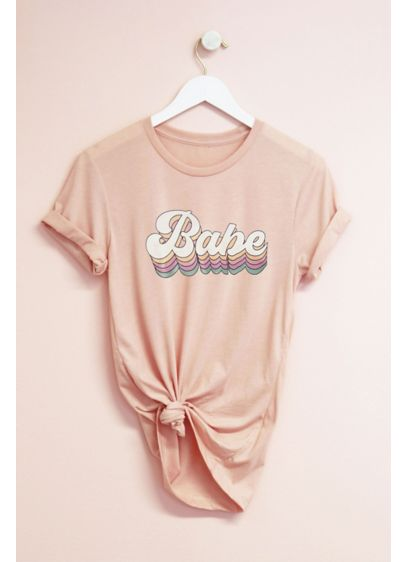 Retro Style Bride Babe Semi-Fitted Jersey T-Shirt - Wedding Gifts & Decorations