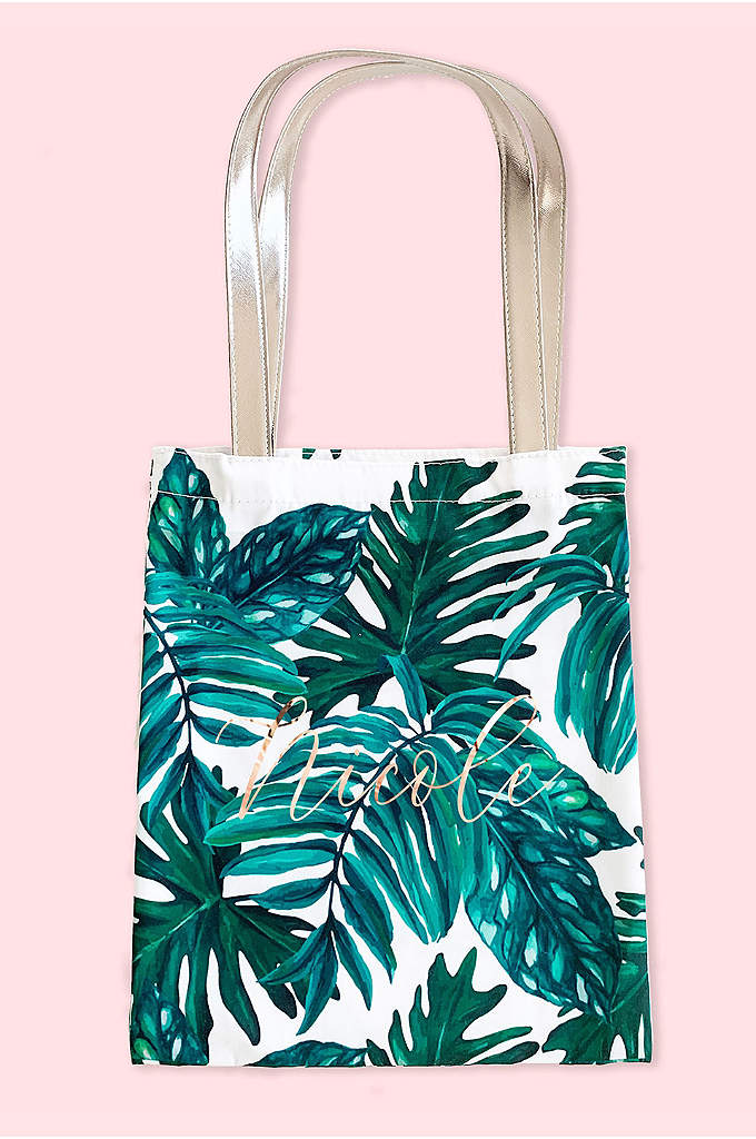 Personalized Palm Leaf Tote