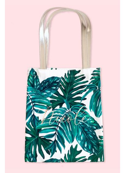 Personalized Palm Leaf Tote - Wedding Gifts & Decorations