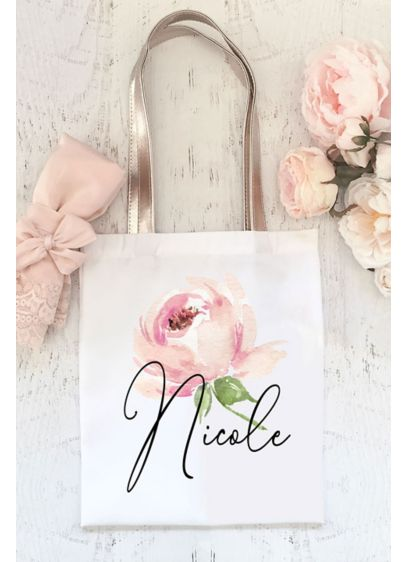 Personalized Spring Rose Tote - Every bridesmaid needs a convenient carry-all for her