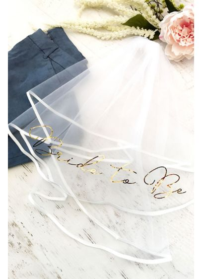 Bride to Be Foil-Printed Veil - You can't have a bachelorette party without a