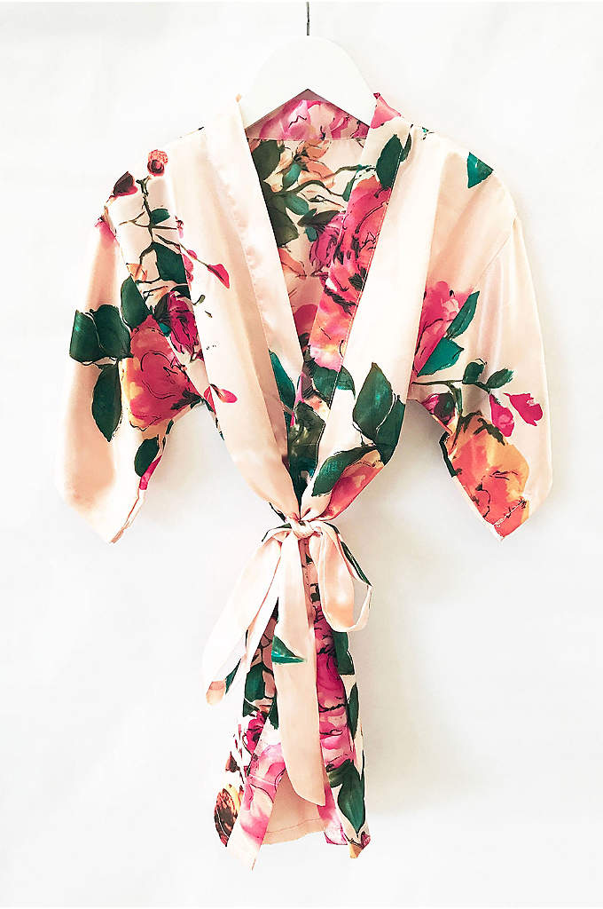 Flower Girl Watercolor Floral Robe - Watercolor floral robes are the perfect gift for