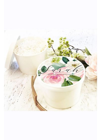 Spring Floral Round Gift Box - When you pop the question to your bridal